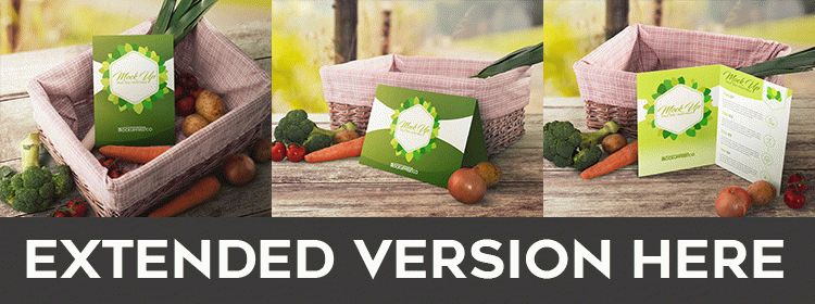 Fruit and Vegetable - Free PSD Mockup