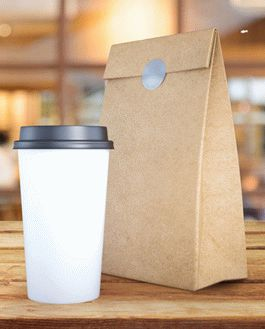 free coffee cup and paper bag mockup psd download. Black Bedroom Furniture Sets. Home Design Ideas