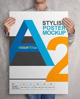 Poster Premium Mockup With Logo