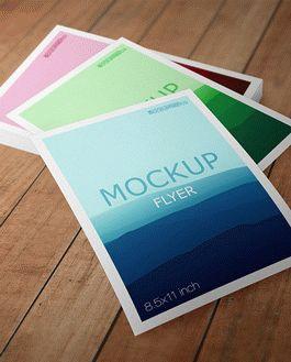Flyer Premium Mockup With Logo