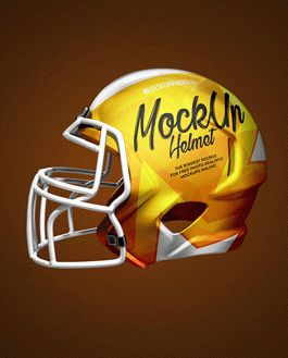 football helmet 3 free psd mockups download
