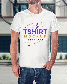free realistic t shirt mockup psd template download