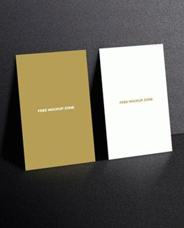 Free standing display business card mockup download reheart Images