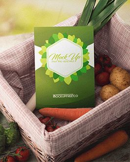 Fruit and Vegetable Mockup With Logo