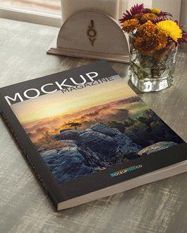 Magazine Free Mockup With Logo
