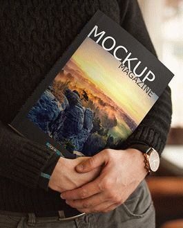 Magazine Premium Mockup With Logo