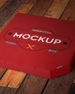 Pizza Box Free Mockup With Logo