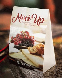 Promotional Table Talkers Mockup With Logo