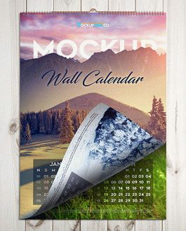 Wall Calendar Free Mockup With Logo