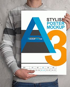 Poster Free Mockup With Logo
