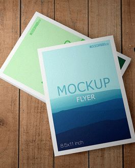 Flyer Free Mockup With Logo
