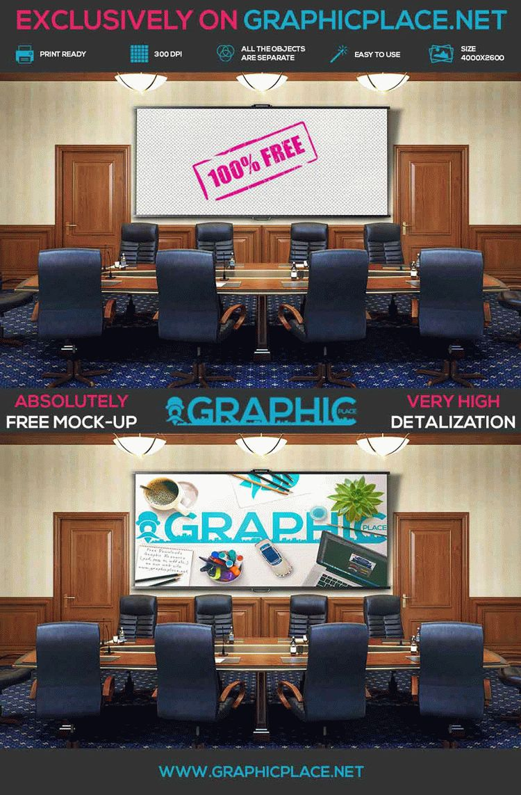 Conference Room - Free PSD Mockup